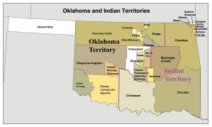 Cherokee and Indian Territory map