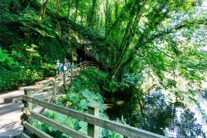 Visitors to Mother Shiptons Cave and Dropping Well
