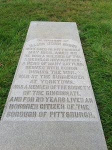 John Irwin's gravestone