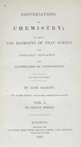 Title Page of Conversations on Chemistry by Jane Marcet