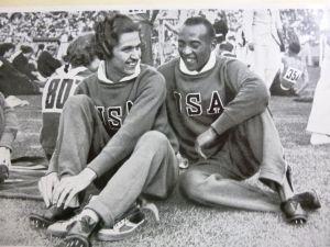 Helen Stephens and Jesse Owens
