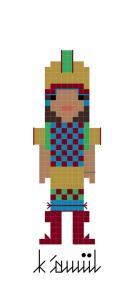 K'awiil custom cross-stitch pattern