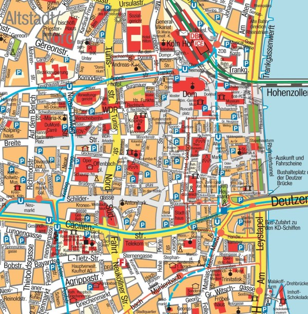 Map of Cologne