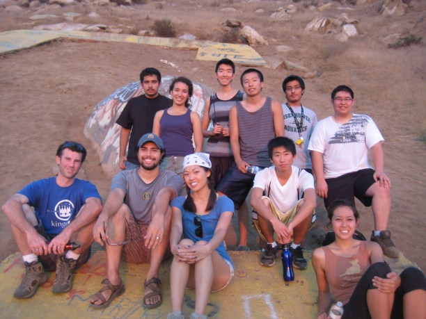 The hiking crew. I was definitely last up to the C! And this was AFTER completing Insanity!
