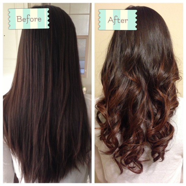 Before and After: Back curled