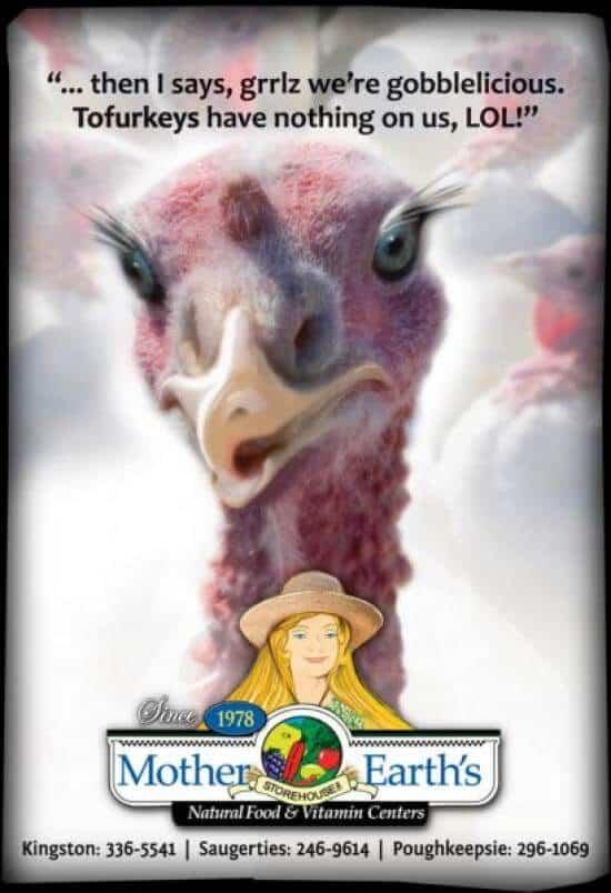 Humorus Thanksgiving ad design