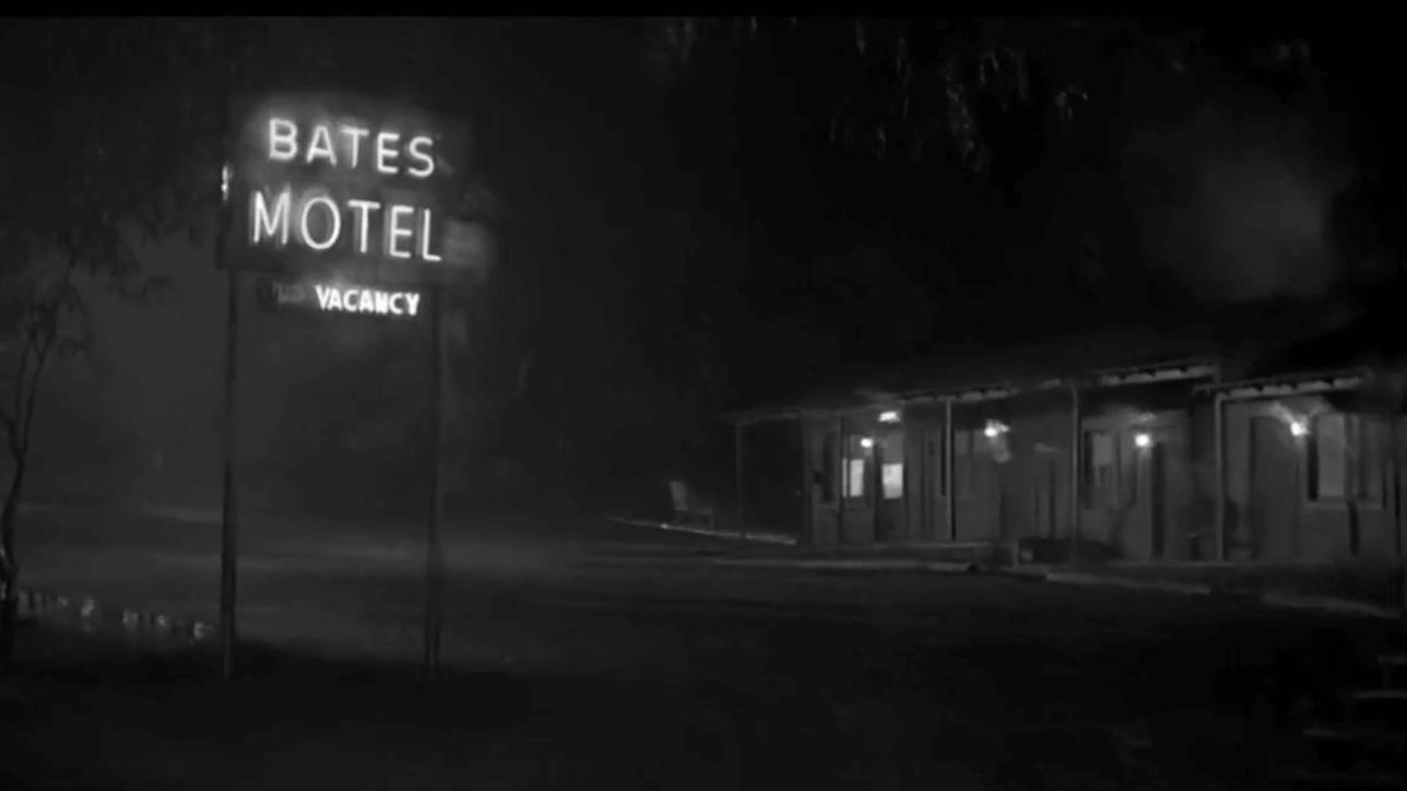 The infamous Bates Motel Neon Sign Design