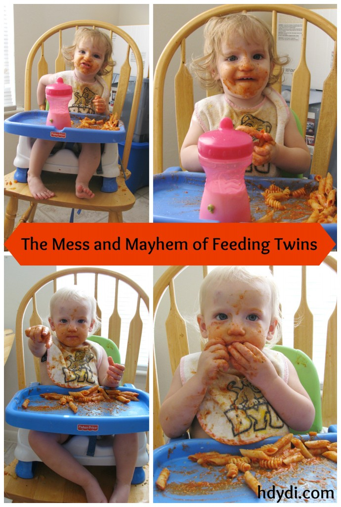 Twins are SO MESSY!! Oh my gosh. Twin toddlers are a lot of work.