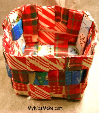 recycled-wrapping-paper-craft-basket