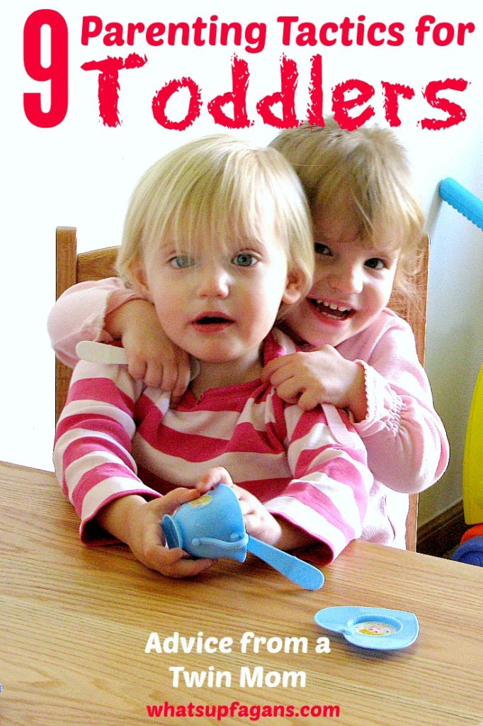 Here are 9 parenting tips and tactics for raising toddlers. Good toddler discipline advice from a twin mom!