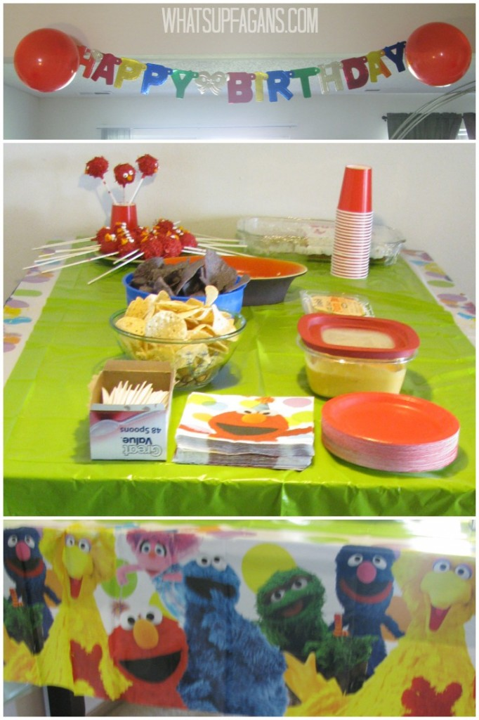 A Sesame Street Elmo Themed Twins 2nd Birthday Party idea!