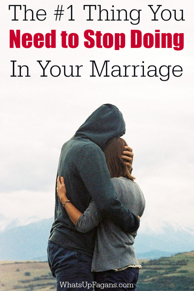 Such great marriage advice! I didn't even realize I did this in our relationship, but I can totally see have I have been. Totally needs to stop!