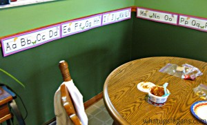 Alphabet Banner around room