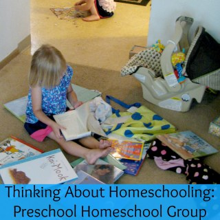 Doing Preschool at Home