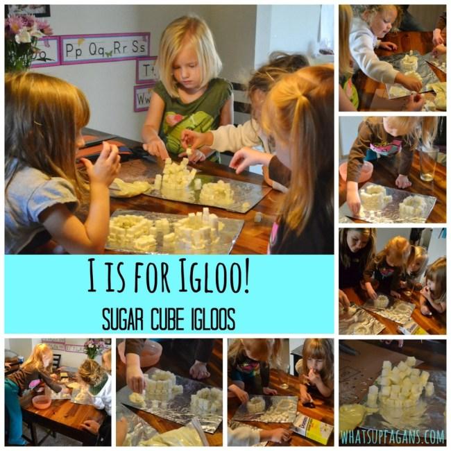 I is for Igloo - Sugar Cube Igloo Craft - Preschool Lesson