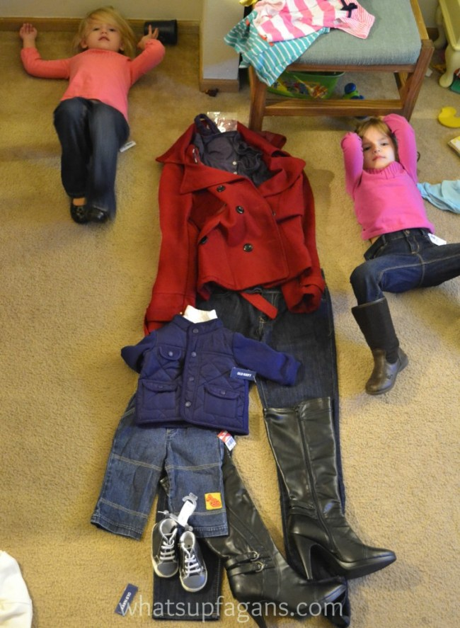 Picking outfits for family pictures