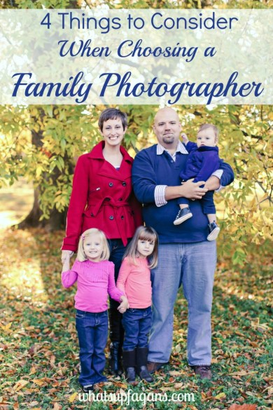 4 Things to Consider When Choosing a Family Photographer - Are they any good? How much should I pay? Do they work well with families? And do they offer prints and digital images? | whatsupfagans.com