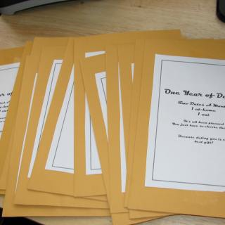 Year of Date Night Ideas Gift Idea in Envelopes