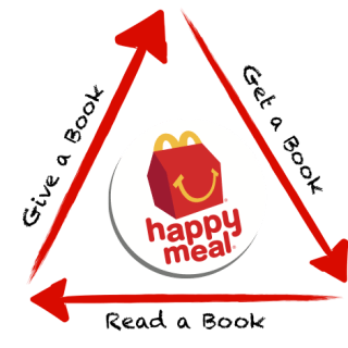 """McDonald's of Central Indiana """"Give a Book, Get a Book"""" new campaign!"""