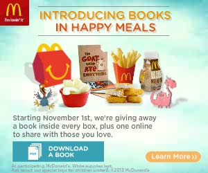 Introducing Books in Happy Meals 2013 from McDonalds