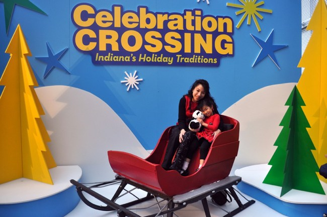 Enjoy a sleigh ride at the Indiana State Museum Celebration Crossing #ISMCelebration