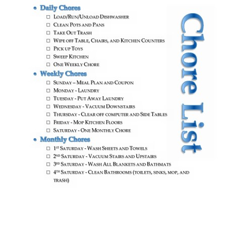 Free {Editable} Printable for your home's daily, weekly, and monthly chore list! Perfect! whatsupfagans.com