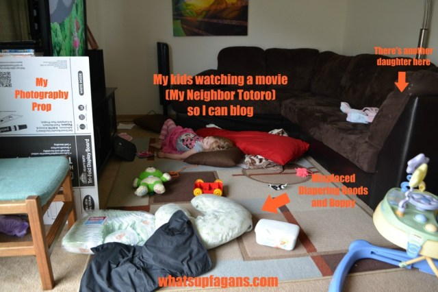 Behind the Blog: My kids usually watch a movie in the morning while I blog.   whatsupfagans.com