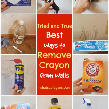 A comparison of 11 popular methods of removing crayon marks from walls! So glad I found this! | whatsupfagans.com