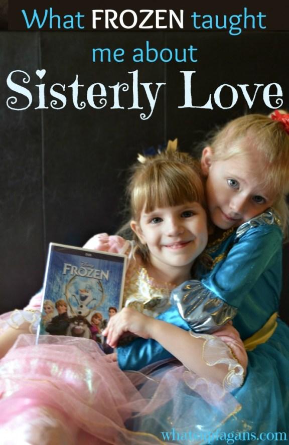 Disney's FROZEN is really all about sisterly love - Anna love Elsa despite everything. #shop #cbias #FROZENFun| whatsupfagans.com