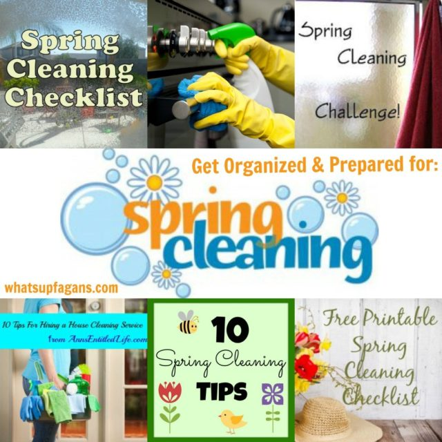 Thanks to this post I'm not overwhelmed by Spring Cleaning! It's full of helpful hints, printables, and challenges to help me tackle my yearly deep cleaning event. | whatsupfagans.com