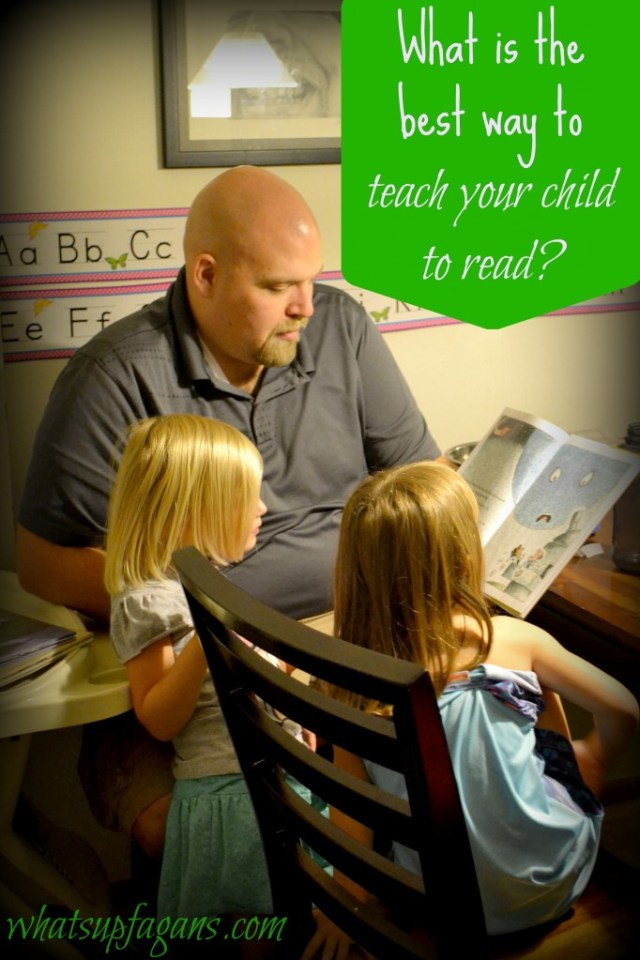 What really is the best way to teach children how to read? How is a parent supposed to know? | whatsupfagans.com