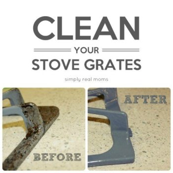 Household Cleaning Tips - Clean stove grates