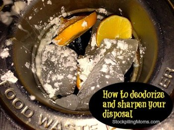 Deep Cleaning Tips - deodorize and sharpen your disposal stockpilling moms