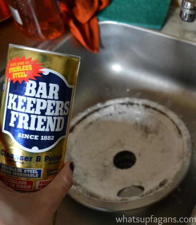 How to clean a burner pan with bar keeper's friend