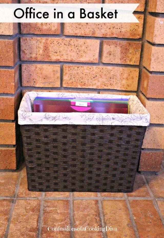 office in a basket