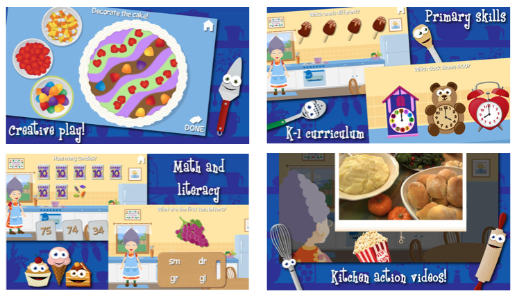 Download the fun and educational app Grandma's Kitchen. It's this week's Apparoo App of the Week.