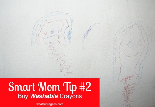 #SmartMom Tip #2 - ONLY buy washable crayons, markers and paint for your kids! #SuperMom @Huggies @DiapersDotCom #Offer #sp