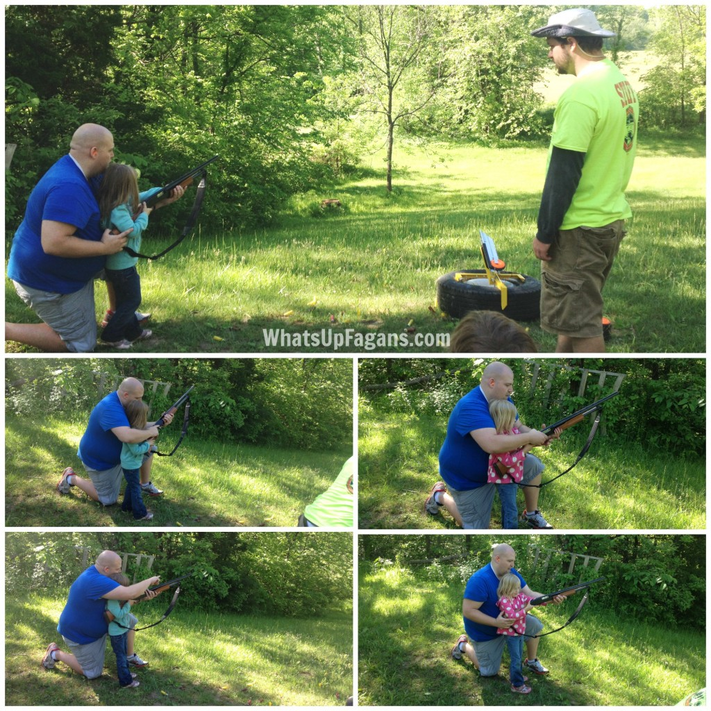 Taking the kids camping and shooting