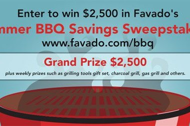 Enter to win the $2500 or one of 6 weekly prizes like new grills! Talk about great BBQ savings! #Favadoapp