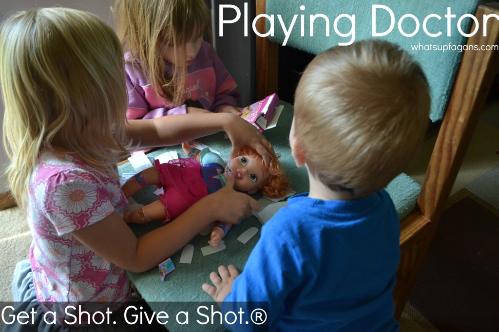 Kids Playing Doctor with baby doll. #GiveaShot #cbias #shop