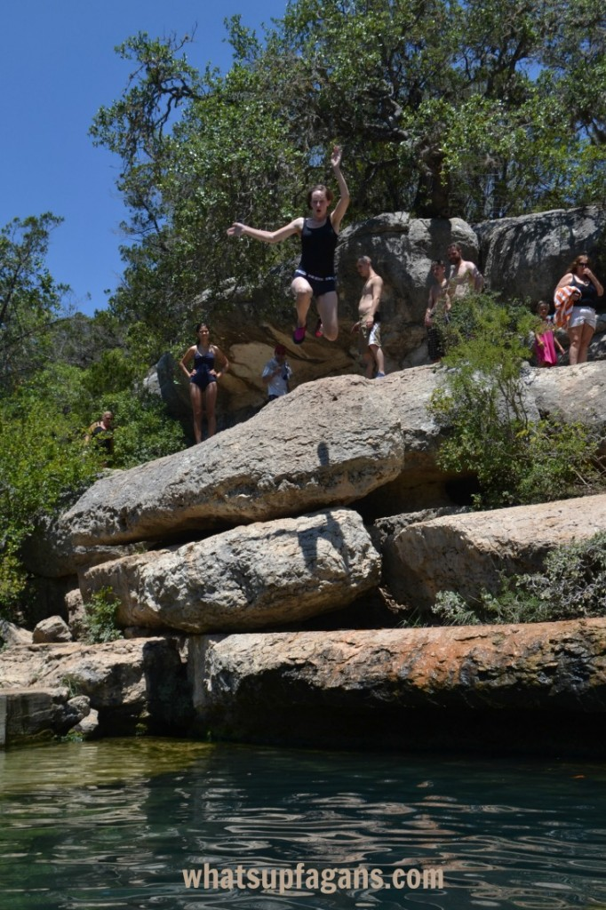 Jumping into Jacob's Well