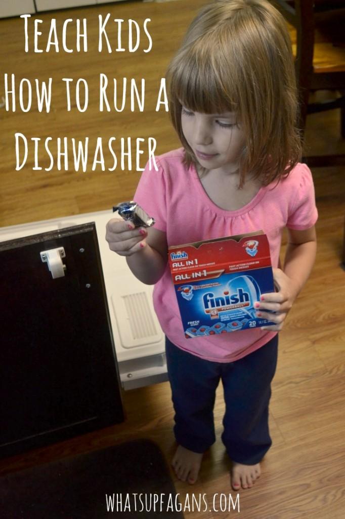 Teach Kids How to Run a Dishwasher