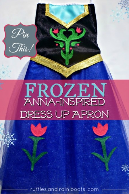DIY Princess-Anna-Tutorial Dress up Apron