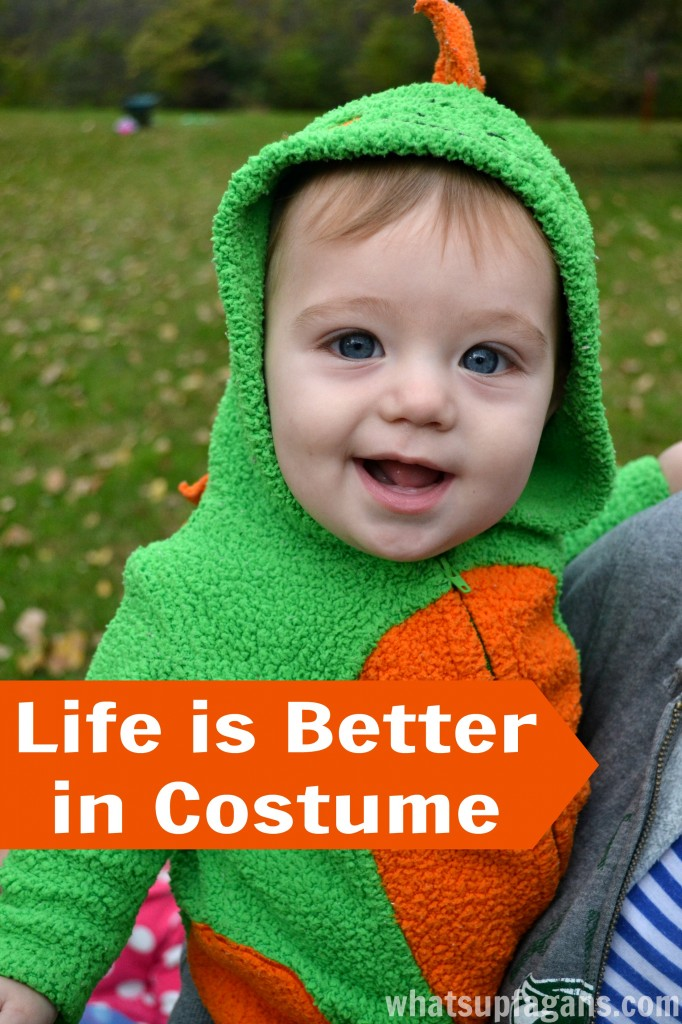If you want to encourage imaginative play in a kid, get them a costume!!
