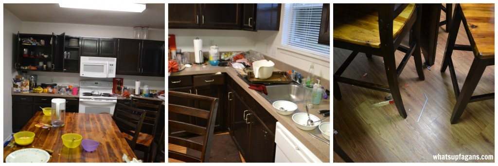 Learn how to get your messy kitchen #CleanForTheHolidays in just 40 minutes! The microfiber spray mop really makes it easy. #cbias #ad