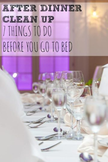 Great tips on some important cleanup to do before bed so you don't feel quite so overwhelmed in the morning!
