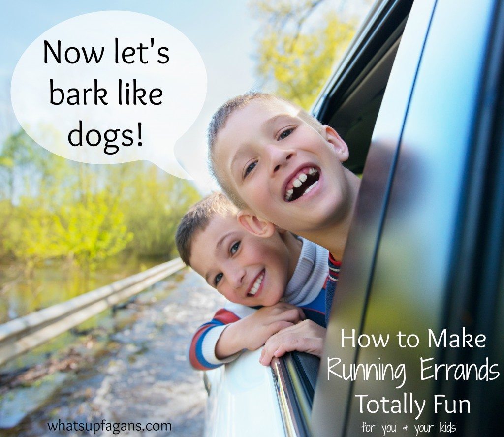 You can totally make running errands fun for you and your kids. Here are some ideas on how to do it.