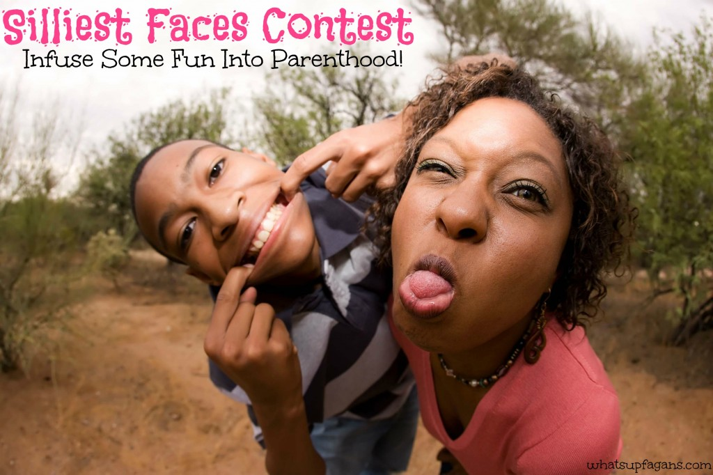 Have a silliest faces contest with your kids. Stop being so boring and add some fun, energy, and silliness into your parenting!