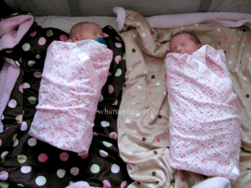 What is the best sleeping arrangement for newborn twins?