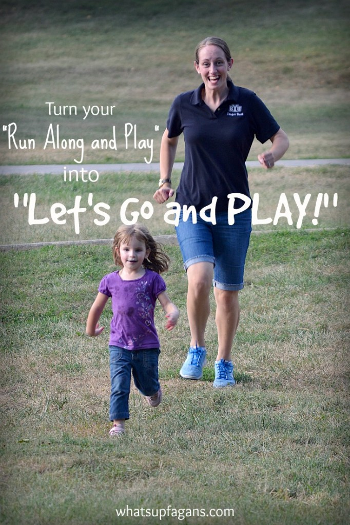 "Stop telling your kids to ""Run along and Play"" and start saying ""Let's Go and Play!"" This is an awesome list of ways to make your kids think you are a fun mom."